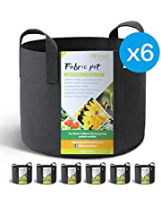 WINNER OUTFITTERS 6-Pack 5 Gallon Grow Bags/Aeration Fabric Pots Handles