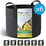 WINNER OUTFITTERS 6-Pack 10 Gallon Grow Bags/Aeration Fabric Pots with Handles