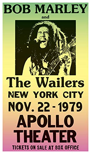 Per Diem Printing Bob Marley & The Wailers - Apollo Theatre New York City - 13