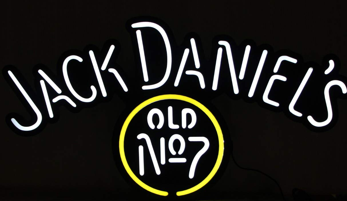 Amazon.com: Jack Daniels Whiskey Old #7 - Cartel con luz ...