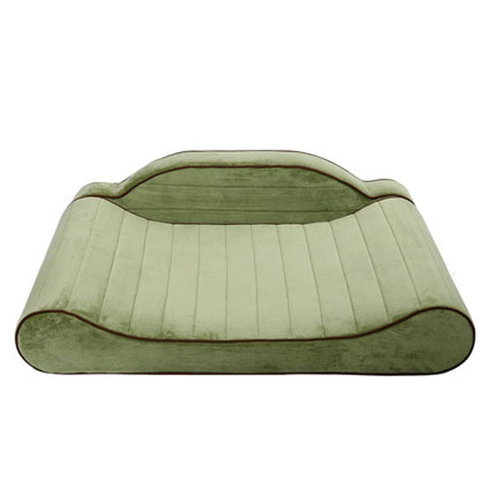 Green JiaJia- Pet Dog Bed-Dog Plush Mattress Pet Bed for Dogs & Cats-Pet Products Sofa-Style Couch Pet Bed Dog Lounge w Solid Memory Foam Kitten Puppy pet nest (color   Green)
