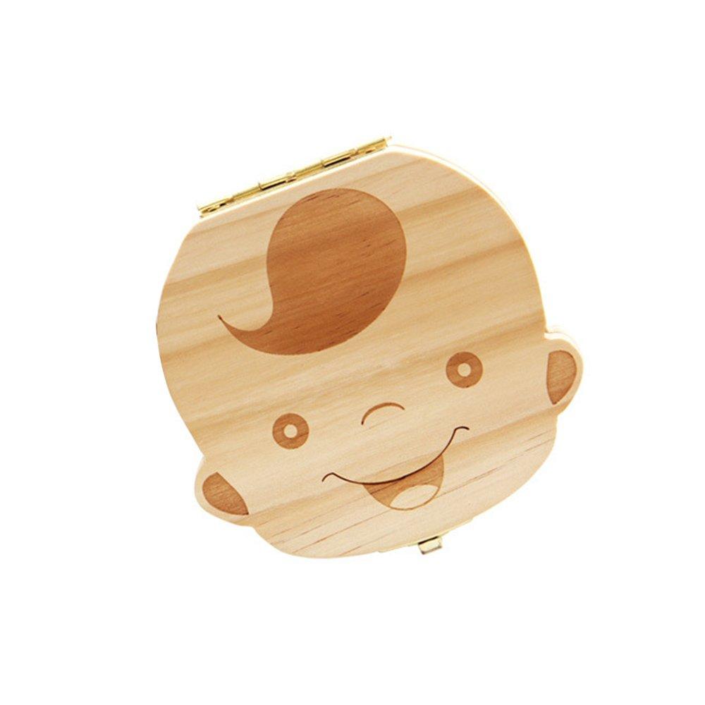Boîte des Dents Organisateur Dents de Lait Boîte de Rangement Cadeaux pour Bébé Enfant - garçon en français GGG