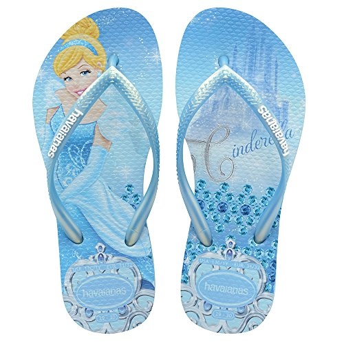 Havaianas Slim Princess, Lavender Blue, 31/32 BR(2 M US Little Kid)