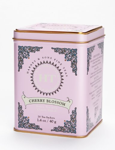 Harney & Sons Caffeinated Cherry Blossom Green Tea Tin - 20 Sachets