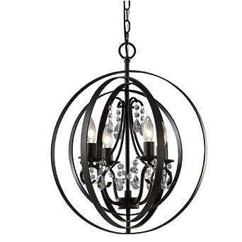 Canarm Jordan Oil Rubbed Bronze Four Light Chandelier Glass