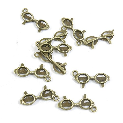 35 PCS Jewelry Making Charms Findings Supply Supplies Crafting Lots Bulk Wholesale Antique Bronze Tone Plated V3IF0 Sunglasses - Sunglasses Making