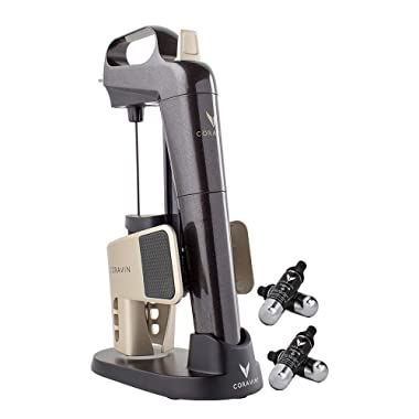 Coravin Limited Edition II Advanced Wine Preservation System and Bottle Opener, Includes 4 Argon Capsules and Display Base, Starry Night