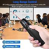 ESYWEN Wireless Presenter Remote RF 2.4GHz USB