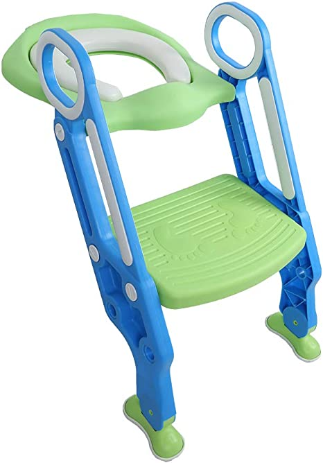 HSRG Inodoro para bebé Asiento Blando para niños Toilettes con Escalera Ajustable Silla de baño para niños Silla Plegable para Inodoro Entrenador Paso para niños Asiento para baño: Amazon.es: Deportes y aire