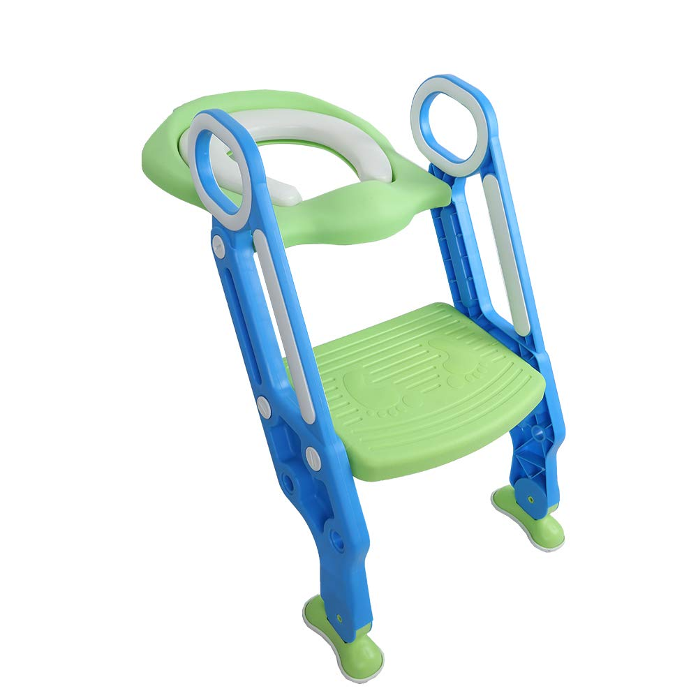 HSRG Baby Toilet Soft Seat Kids Toilettes with Adjustable Ladder Child Potty Chair Folding Toilet Trainer Seat Step Children Potty Seat