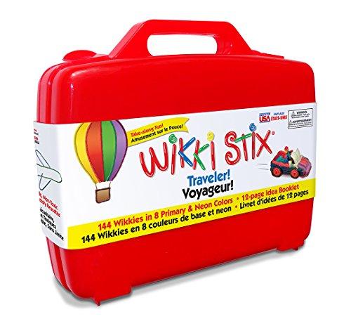 Wikki Stix Traveler Playset Craft Kit Molding & Sculpting Sticks (English & French Bilingual Packaging) by WikkiStix