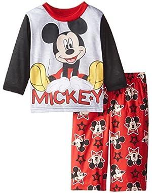 Baby Boys' Mickey Mouse Stars 2 Piece Pajama Set