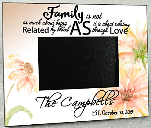 Blended Family Wedding Gift Personalized Photo Frame - 8