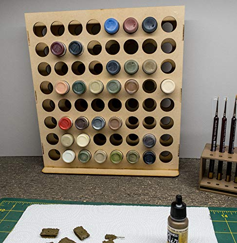 GameCraft Miniatures Vertical Paint Rack - 26mm, For Vallejo and Army Painter Style Dropper Bottles (Paint Bottle Organizer)