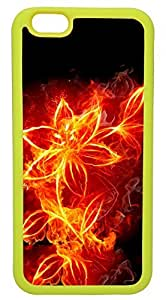 """Burning FLower Abstract And Creative Art Customizable TPU Yellow Case for iPhone 6 (4.7"""") At Colored Cases Store by ruishername"""