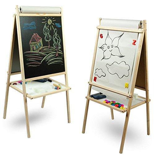 Standkindertafel zum Hammerpreis Papierrolle Schreibtafel Maltafel Kindertafel Standtafel Holz