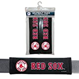 MLB Boston Red Sox Seat Belt Pad (Pack of 2), One Size, White