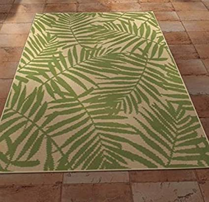 Amazon Com Mainstays Palm Indoor Outdoor Rectangular Area Rugs