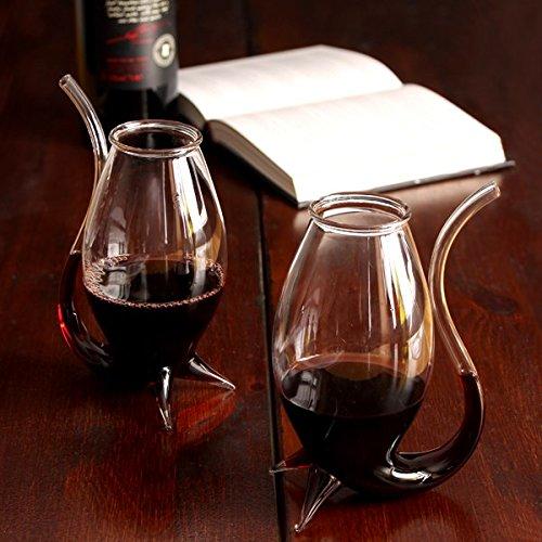 bar@drinkstuff Vampire Wine Glasses 300ml - Set of 2 - Gift Boxed Giant Port Sipper Style Glasses, Brandy Pipe