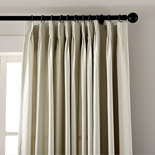 Pinch Pleated Thermal Insulated Drapes: ChadMade Pinch Pleat 100W X 84L Inch Solid Thermal