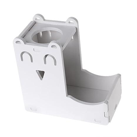 Qiman - Botella de Agua pequeña para Mascotas con dispensador de Comida para hámster y Conejo