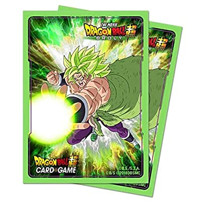 Dragon Ball Super: Standard Size Deck Protector Sleeves - Broly (65): Toys & Games