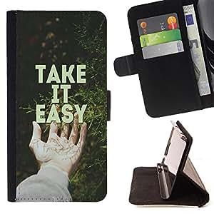 Jordan Colourful Shop - FOR Apple Iphone 6 PLUS 5.5 - take it easy - Leather Case Absorci¨®n cubierta de la caja de alto impacto