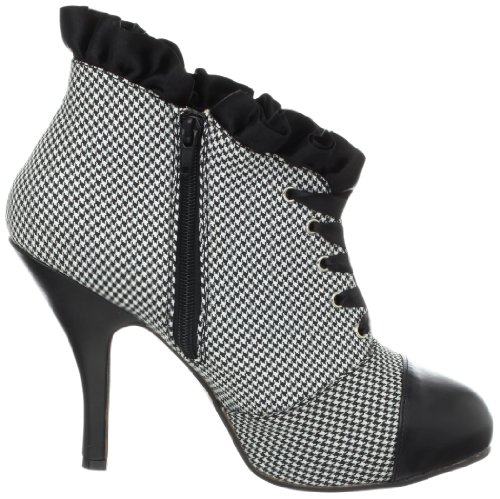 para noir Zapatos cordones blanc 39 mujer Pleaser de BOHxwPX