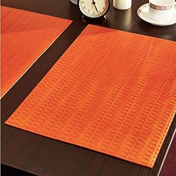 JY$ZB almohadilla de calor rectangular de cuero occidental tapete de mesa Continental Europea manteles individuales para el hotel del hogar partido ...