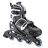 Xootz Girl's Inline Skates Adjustable And Padded Roller Blades - Black, Size 1-4