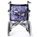Fushida Durable Walker Bag, Universal Storage Tote Bag for Wheelchair, Extra 4 Pockets Store Loose Items, Wheelchairs & Rollator Accessoty Organizer Bag(Purple, FGJ128-CA)