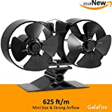 8 Blade Twin Motor Original Top Heat Powered Driven Eco Stove Fan...