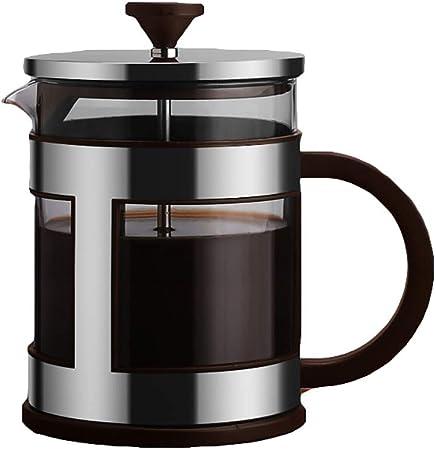 FYHKF Cafeteras de émbolo Cafetera Francesa de presión Tetera Gruesa Cafetera de Mano Creativo 10.5 * 15.3cm (600ml), 12 * 16.9cm (1000ml), 3 Colores: Amazon.es: Hogar