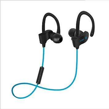 Auriculares Bluetooth Deporte Inalámbrico Bluetooth 4.1 Versión Colgante oído Estéreo Binaural IPX4 a Prueba de Agua (Color : Azul): Amazon.es: Electrónica