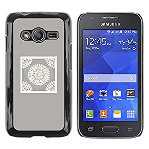 Exotic-Star ( Handicraft Art Drawing White ) Fundas Cover Cubre Hard Case Cover para Samsung Galaxy Ace4 / Galaxy Ace 4 LTE / SM-G313F