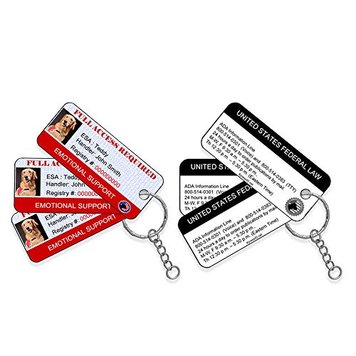 XpressID Emotional Support Dog ID Key Tags (Set of 3)   Includes Registration to National Dog Registry