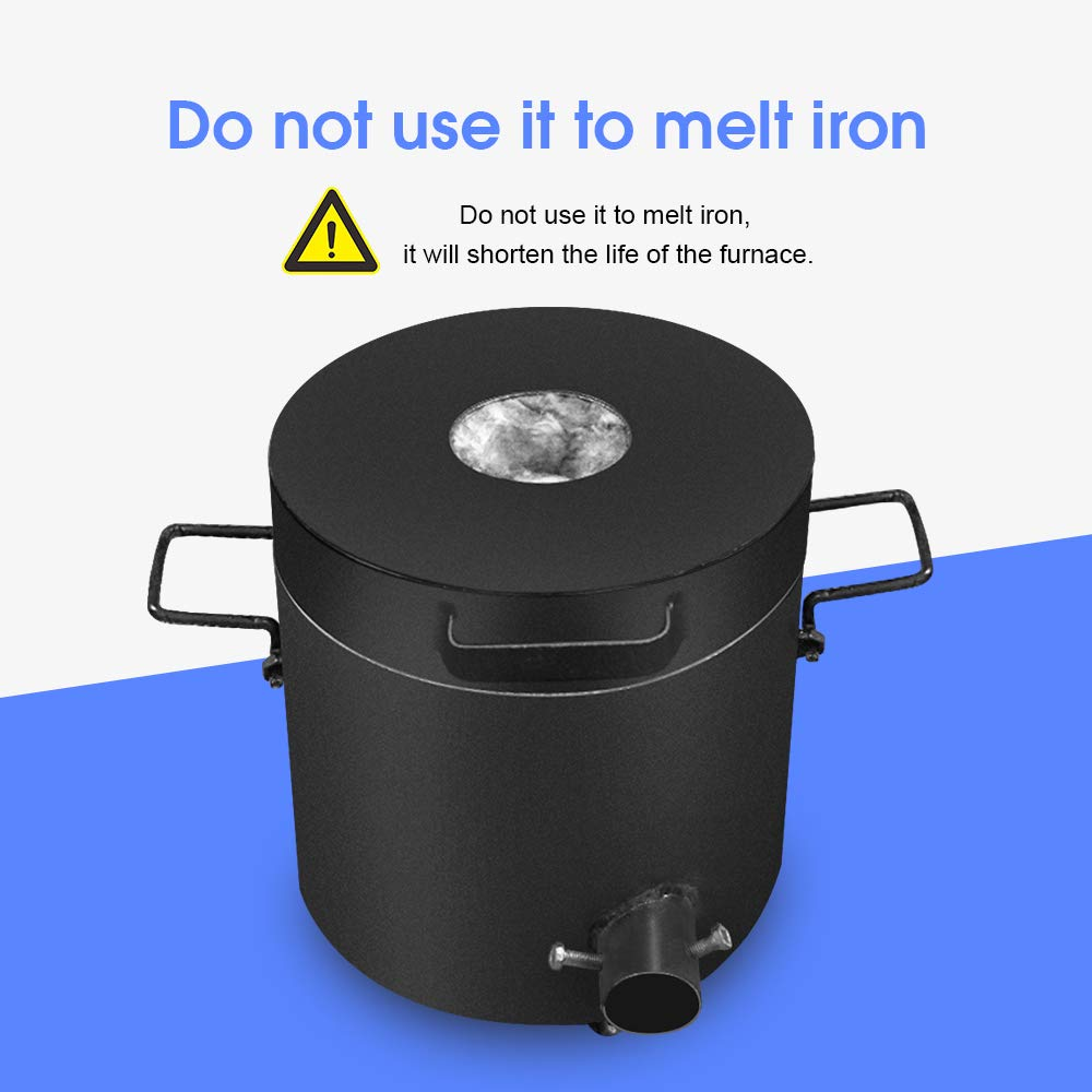 FASTTOBUY 6 KG Propane Melting Furnace Kit w Graphite Crucible and Tongs 1300/°C //2372/°F Casting Refining Smelting for Precious Metals Gold Silver Tin Aluminum 6-in-1 Melting Casting Tool,US Stock