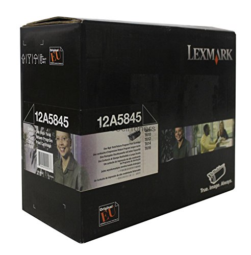 Lexmark 12A5845 OEM Toner - Optra T610 T612 T614 T616 High Yield Return Program Toner 25000 Yield by Lexmark