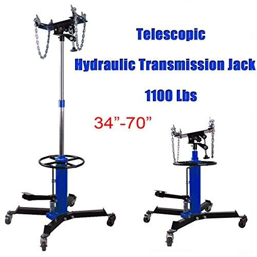 ridgeyard-1100-lb-capacity-2-stage-adjustable-height-telescopic-hydraulic-transmission-jack-with-pedal-360-swivel-wheels-lift-hoist