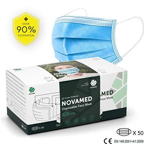 Novamed 3 Layer Disposable Face Mask