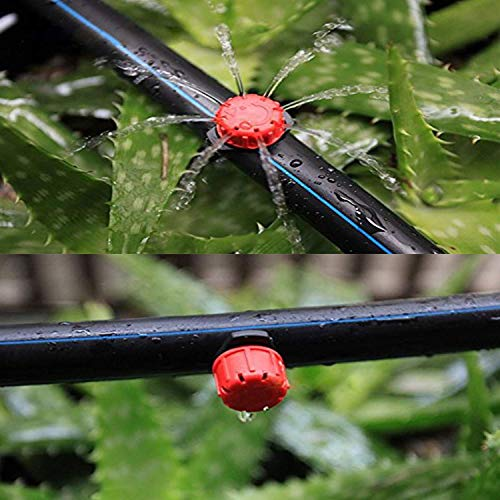 100Pcs Adjustable Irrigation Drippers Sprinklers Emitters Drip Watering System