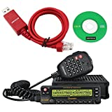 NKTECH USB Programming Cable WouXun KG-UV950P 50W 999CH VHF UHF 136-174/400-480MHz Quad Cross Band Car Truck Mobile Radio Transceiver Two Way Radio