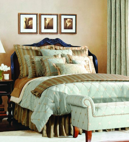 Jennifer Taylor Home, 9-Piece Comforter Set, Queen, Seamist Green/Multicolored