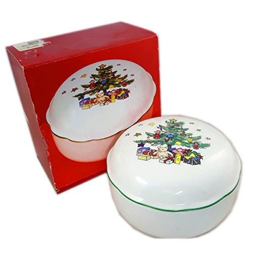 Nikko Japan Happy Holidays Covered Bon Bon Dish (Nikko Christmas Tree)