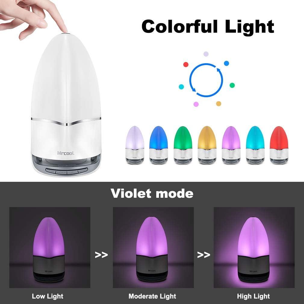 MRCOOL Lampada da Comodino con Altoparlante Bluetooth Uomini Lampada da Tavolo LED Luce Notturna con Cambio di Colore S Regalo per Donne Bambini