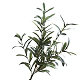 Simulation of olive branch, YunZyun Artificial Plant Fake Leaves Foliage Grass Bush Wedding Party Home Garden Decor