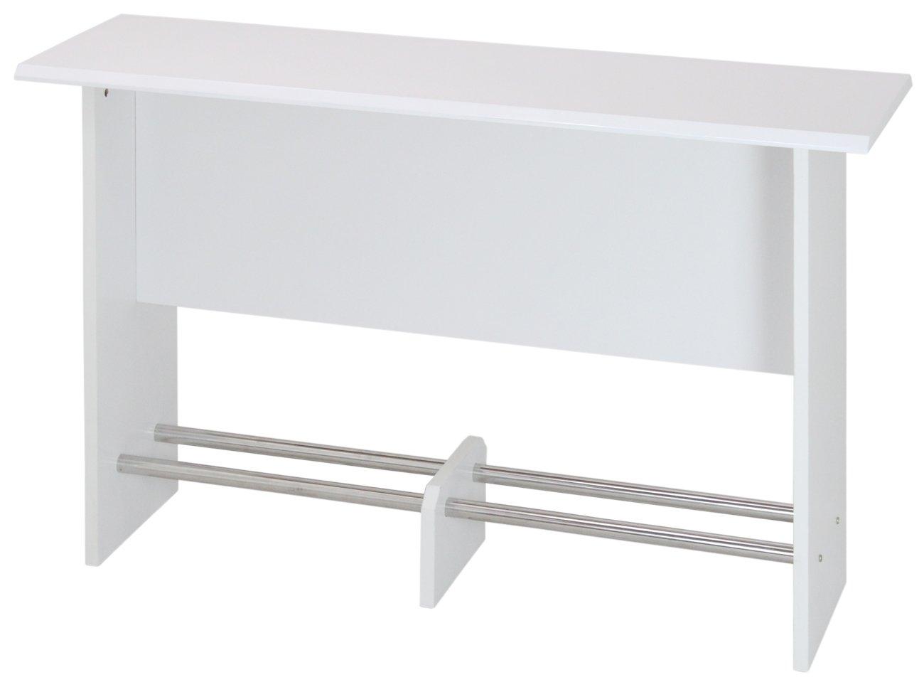 【訳ありアウトレット品】サンニード 鏡面カウンターテーブル KW-150 ホワイト 白 幅150 高さ90 デスク Y-L1 B010HBRMQ6 ホワイト ホワイト