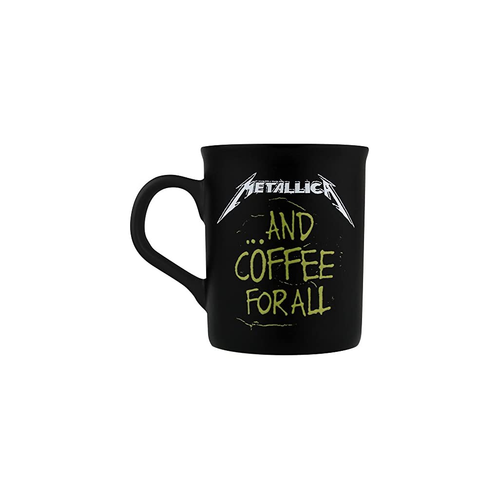 Metallica and coffee for all Tazas