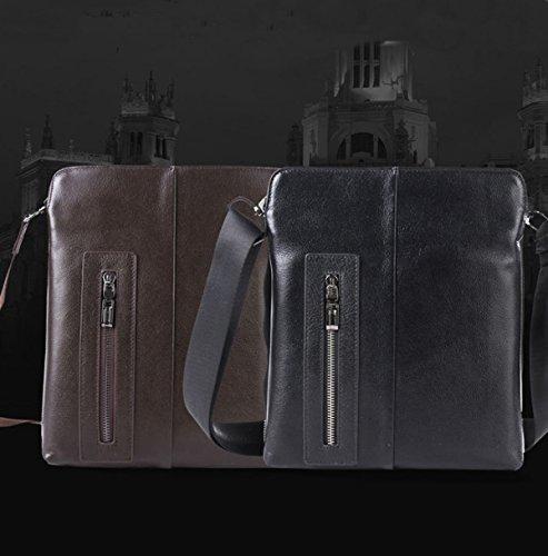 Upmarket Bolsa Negro Cuadrada Handcarry Esencial De Gran Hombres Bolsa negro Capacidad Moda AxY7nqzw