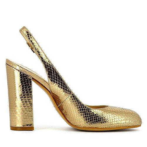 Evita Shoes Ilenea - Zapatos de vestir de Piel para mujer dorado